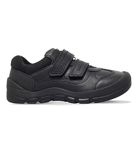 START RITE 战士皮革鞋履 6-8 岁(黑色