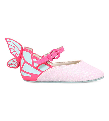 SOPHIA WEBSTER Chiara glitter mini Mary Janes 4-6 months (Pink