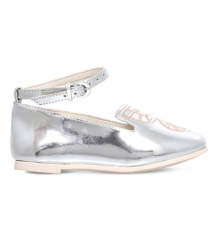 SOPHIA WEBSTER Bibi Butterfly Mini ballet flats 2-8 years (Silver