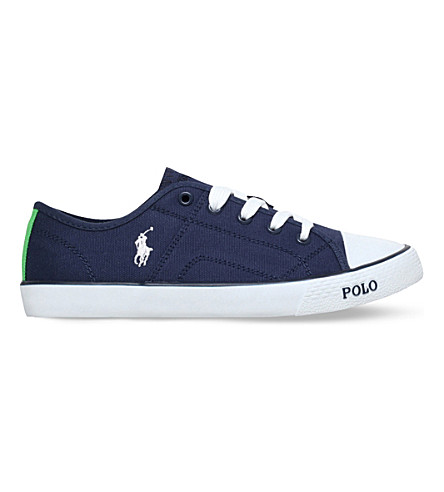 POLO RALPH LAUREN Daymond canvas trainers 8-12 years (Navy