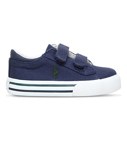 POLO RALPH LAUREN Harrison EZ canvas trainers 2-5 years (Navy
