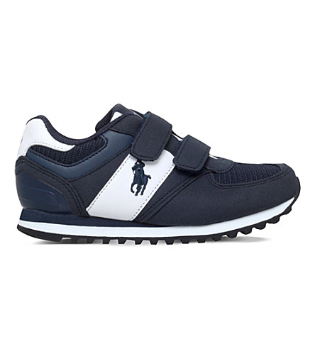 POLO RALPH LAUREN Slaton ez suede trainers 5-8 years (Navy