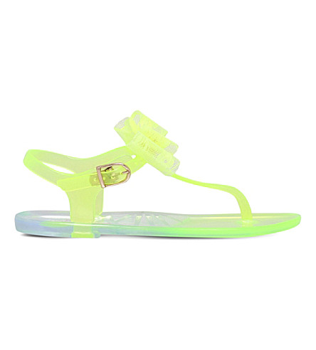 MINI MISS KG Jellybean bow-detail jelly shoes 7 - 9 years (Lime