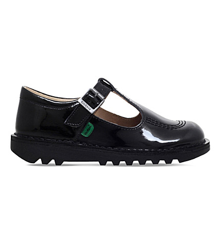 KICKERS Kick T patent shoes 7-9 years (Black