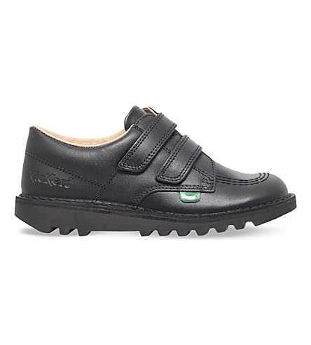 KICKERS Kick lo leather shoes 2-7 years (Black