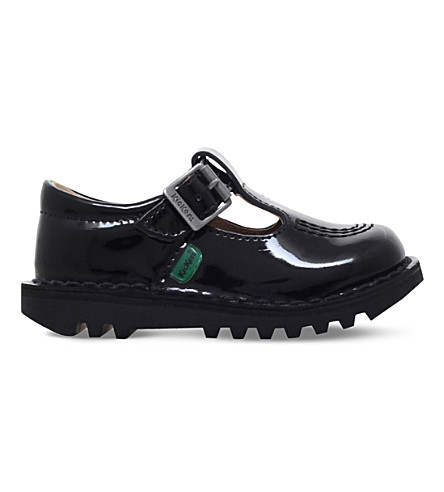 KICKERS Kick t patent leather shoes 2-7 years (Black