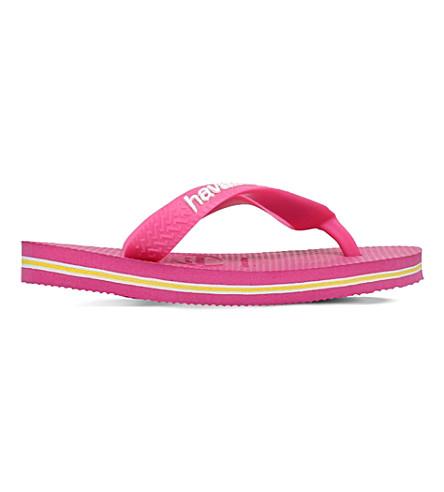 HAVAIANAS 巴西标志 flip-flops 2-7 年 (粉红色
