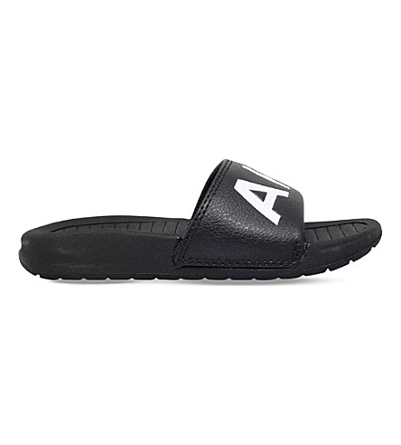 AKID Classic Aston leather slider sandals 6 months-7 years (Black