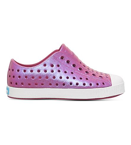 NATIVE Jefferson iridesent shoes 2-7 years (Purple