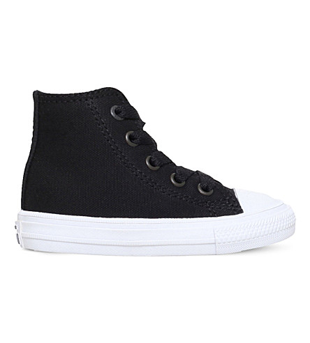 CONVERSE Chuck Taylor high-top canvas trainers 2-4 years (Black