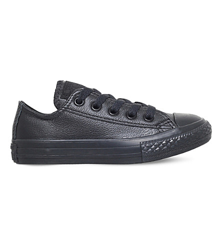 CONVERSE Chuck taylor All Star low-top leather trainers (Black