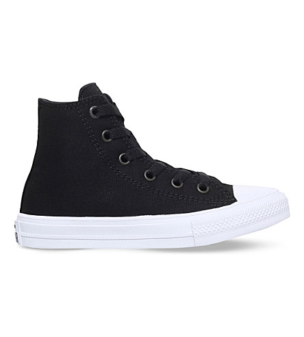 CONVERSE Chuck taylor all star ii high-top canvas trainers 4-9 years (Black