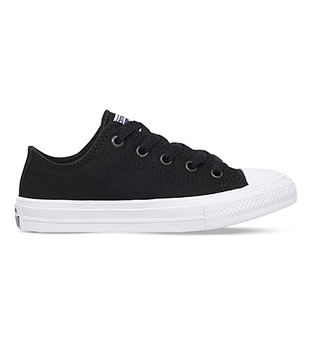 CONVERSE Chuck taylor all star ii low-top canvas trainers 4-9 years (Black
