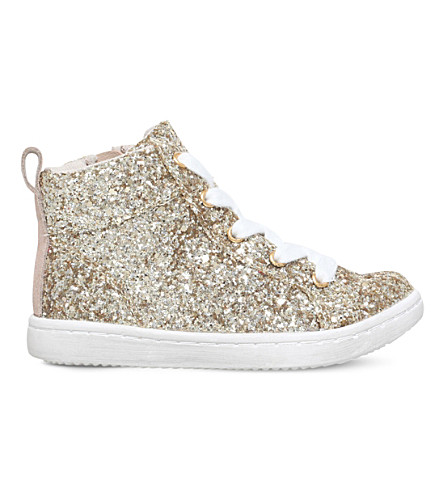 MINI MISS KG Mini Ladder glitter trainers 7-9 years (Gold