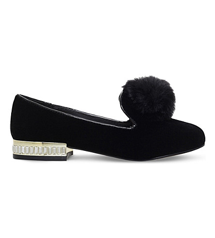 MINI MISS KG Mini Lap velvet slippers 7-9 years (Black