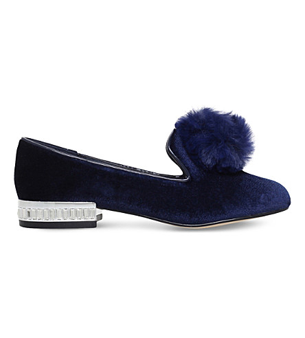 MINI MISS KG Mini Lap velvet slippers 7-11 years (Navy