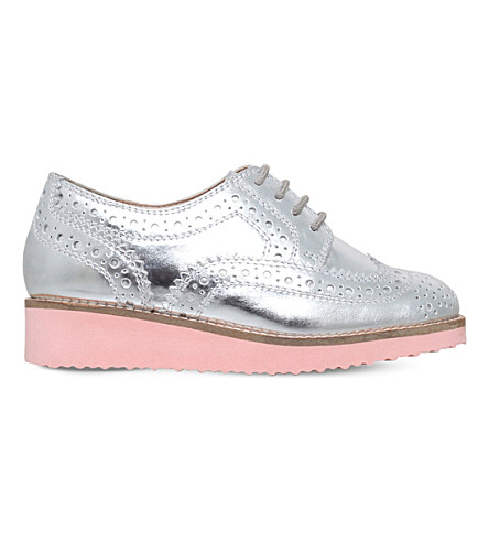 MINI MISS KG Mini Knox metallic brogues (Silver