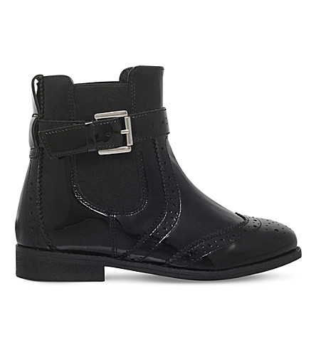 MINI MISS KG Mini Slow leather boots 4-7 years (Black