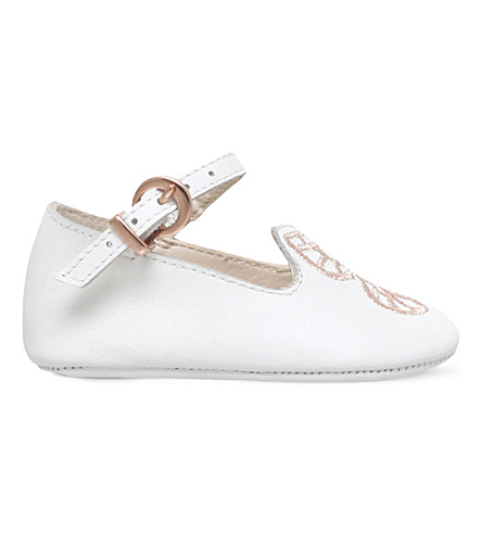 SOPHIA WEBSTER Bibi butterfly leather pumps baby 4-6 months (White