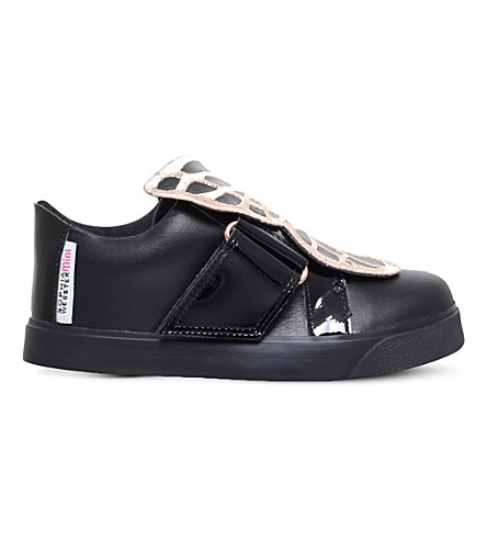 SOPHIA WEBSTER Bibi leather trainers 2-8 years (Black