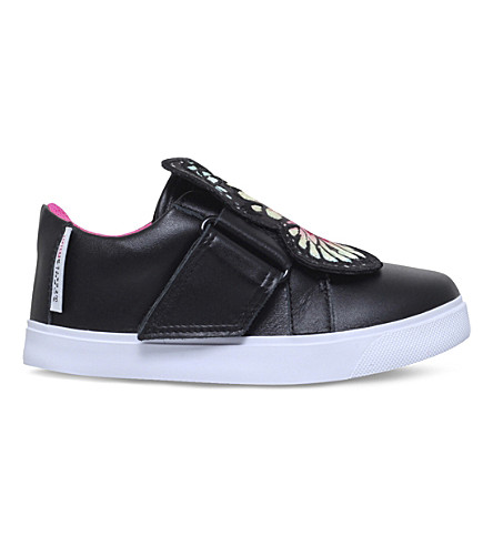 SOPHIA WEBSTER Bibi leather trainers 2-8 years (Blk/other
