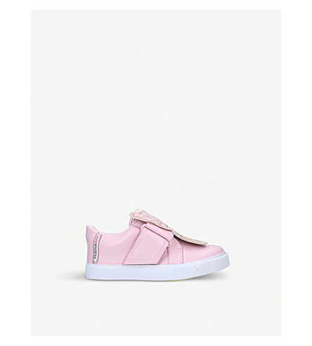 SOPHIA WEBSTER Bibi low top mini leather trainers 2-8 years (Pale+pink