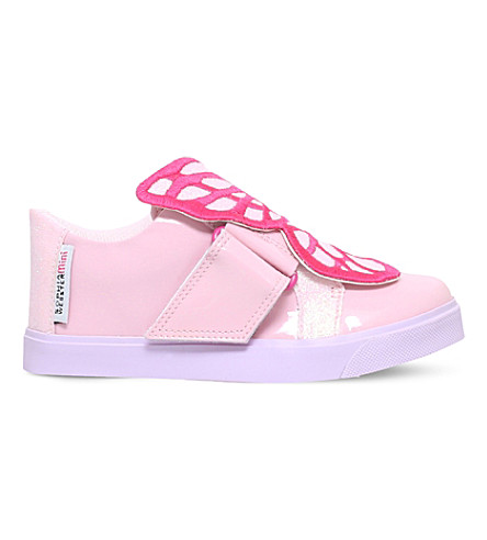SOPHIA WEBSTER Bibi low top mini leather trainers (Pink