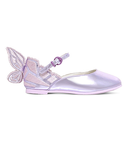SOPHIA WEBSTER Chiara Mini leather shoes 2-8 years (Pink