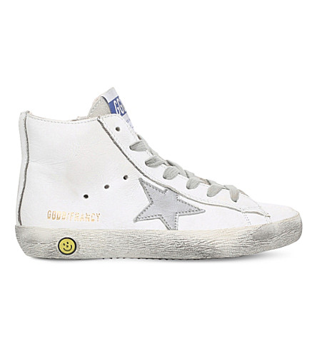 GOLDEN GOOSE Francy leather trainers 6-9 years (White