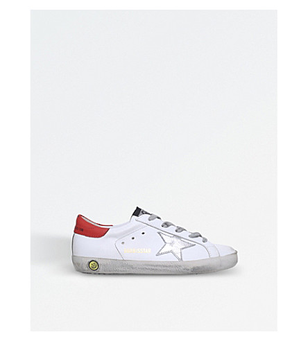 GOLDEN GOOSE Superstar leather trainers (White