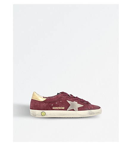 GOLDEN GOOSE Superstar suede trainers (Red