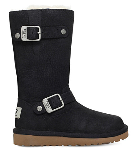 UGG Kensington leather boots 4-10 years (Black