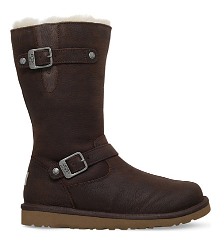 UGG Kensington leather boots 5-9 years (Brown