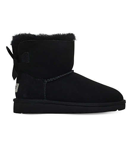 UGG Mini bailey bow 6-9 years (Black