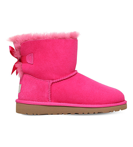 UGG Mini bailey bow boots 6-9 years (Pink