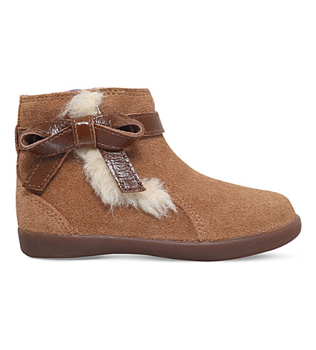 UGG Libbie bow-detail suede boots 2-5 years (Brown