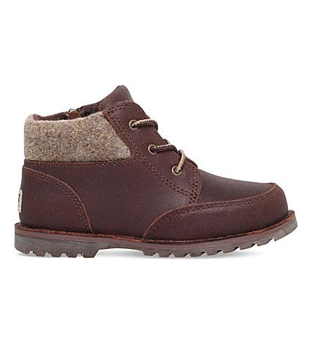 UGG Orin leather and wool boots 3-7 years (Dark+brown