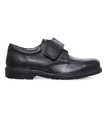 GEOX 费德里科皮革学校鞋履 7-8 岁 (黑色