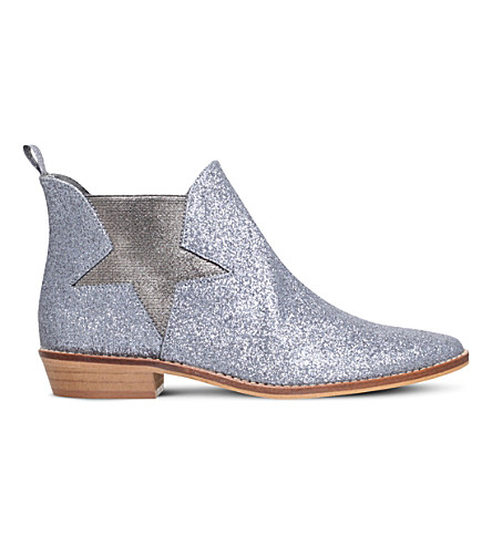 STELLA MCCARTNEY Lily glitter Chelsea boots 3-11 years (Silver