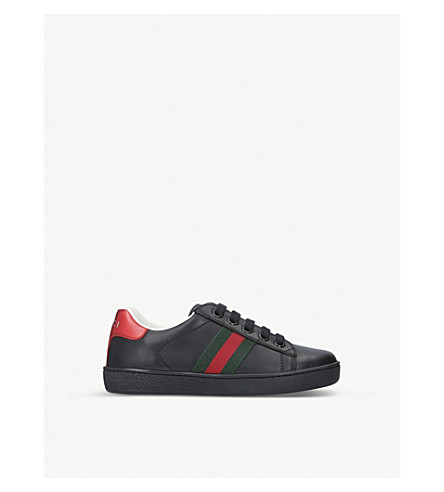 GUCCI New Ace leather trainers 5-8 years (Black