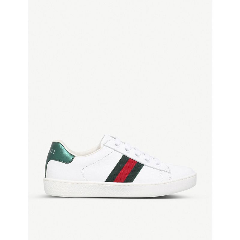 GUCCI | Gucci Kids New Ace Leather Trainers 4-8 Years | Goxip