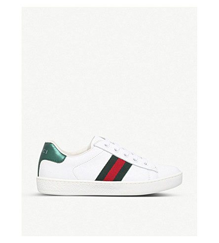 GUCCI New ace leather trainers 4-8 years (White