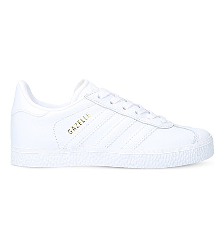 ADIDAS Gazelle leather trainers 5-8 years (White
