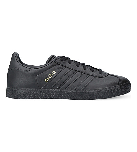 ADIDAS Gazelle leather trainers 9-11 years (Black