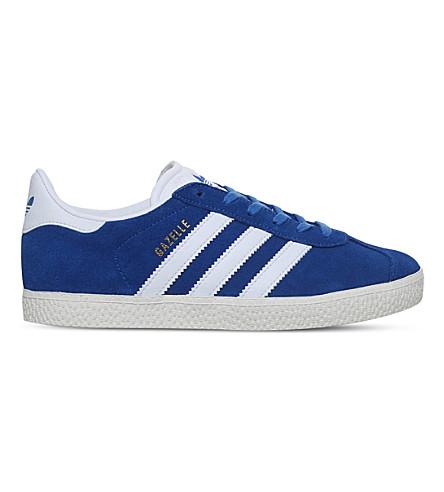 ADIDAS Gazelle suede sneakers 9-10 years (Blue