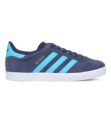 ADIDAS Gazelle suede trainers 9-10 years (Navy
