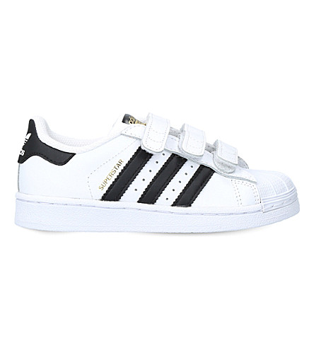 ADIDAS Superstar leather trainers 4-7 years (White/blk