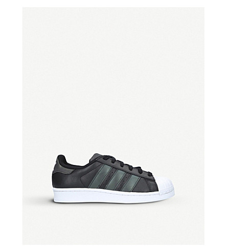 ADIDAS Superstar leather trainers 9-11 years (Blk/other