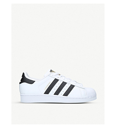 ADIDAS Superstar J leather trainers 9-11 years (White/blk