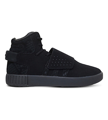 ADIDAS Tubular Invader suede trainers 4-9 years (Black